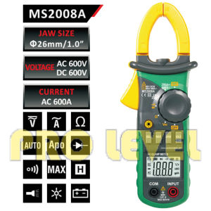 2000 Counts Digital AC Clamp Meter (MS2008A) pictures & photos