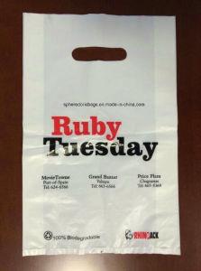LDPE Printed Plastic Die Cut Handle Shopping Bag