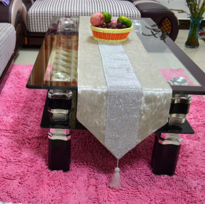 Hand-Sewing Diamond Tape Table Runner Decorative Table Flag (YTR-14) pictures & photos