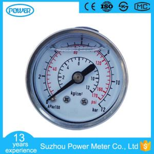 40 mm Back Type Stainless Steel Oil Filled Pressure Gauge pictures & photos