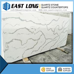 Calacatta White Quartz Stone Price, Faux Quartz Stone Slabs pictures & photos