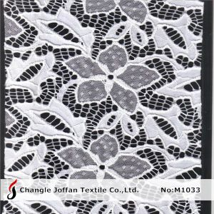 Knitting Stretch Flower Lace Fabric for Dresses (M1033) pictures & photos