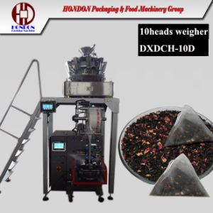 Loose Leaf Tea Packing Machine with Electric Weigh-Er (DXDK-10D) pictures & photos