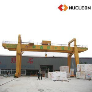 Nucleon Marble Lifting Business Used Double Girder Gantry Crane 25 Ton pictures & photos