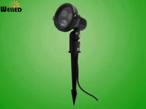 Outdoor LED Garden Spotlight 3W with Spike for Landscape & Lawn Lamp