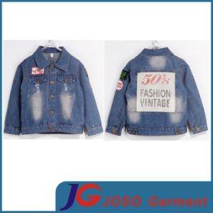 Boy Denim Jacket China Manufactory (JT8008) pictures & photos
