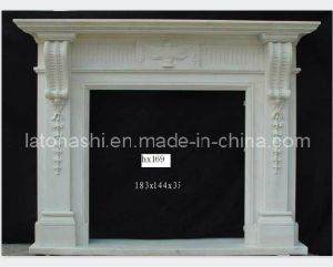Moden Style Indoor White Granite Fireplace for Home pictures & photos