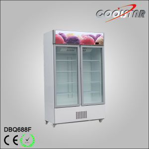 24 Cubic Feet Double Glass Door Upright Freezing Showcase pictures & photos