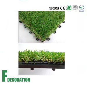 High Quality Interlocking Artificial Grass Tile pictures & photos