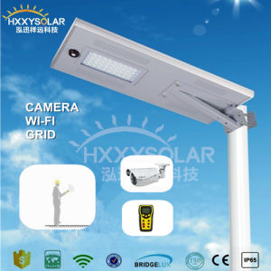 New Round Holder 50W Solar LED Street Light with Sensor pictures & photos