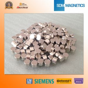 Small Cylinder Permanent Neodymium Magnet Coated Gold pictures & photos