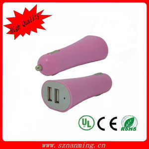 DC 5.0V 2A Portable Dual USB Car Charger pictures & photos