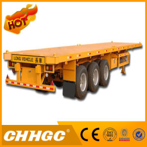 3 Axle Semi Trailer Flatbed Container Trailer for Sale pictures & photos