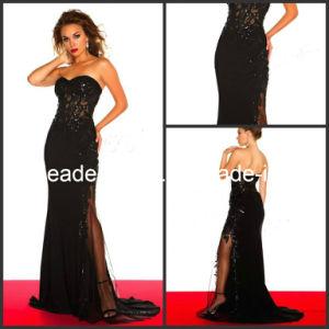 Black Sheath Evening Dresses Slit Wedding Party Prom Dresses E13224 pictures & photos