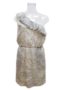Lady Elagent Laser Cut Patch Neckline Fashion Dress (EF D8922)