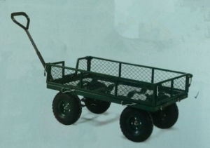 Pneumatic Wheeled Mesh Sided Platform Truck (MSPT) pictures & photos