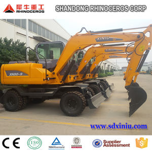 Hot Sale Wheel Excavator Xn80-9 with Best Price Best Quality for Sale pictures & photos