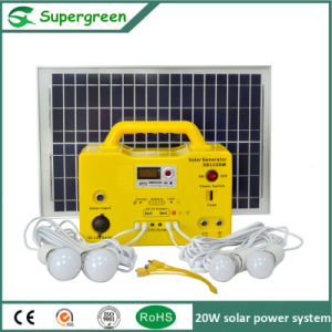 20W 12V Battery with LED Lamp Sunlight Energy Solar System pictures & photos