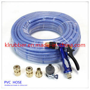 Retractable PVC Garden Water Hose with Brass Fitting pictures & photos