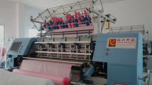 Yuxing Lock Stitch Multi-Needle Quilt Machine, Fashion Dress Quilting Machine, Cotton Fabric Quilter China pictures & photos
