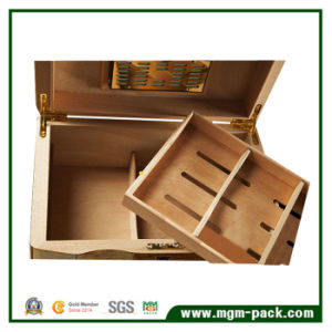 High-End Cedar Wooden with Tray Drawer Storage Cigar Box pictures & photos