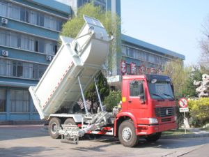 HOWO Garbage Truck 17m3 Side Loader (ZZ3257M3847C) pictures & photos
