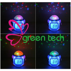 Colored Starry Sky Projection Digital Alarm Clock