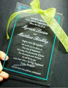 Clear Acrylic Unique Wedding Invitation Card Laser Cut (BTR-U3002) pictures & photos