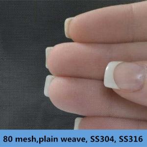 80 Mesh, 0.125 mm Wire Dia, . Plain Weave, Ss304, 304L, 316, 316L Wire Mesh pictures & photos