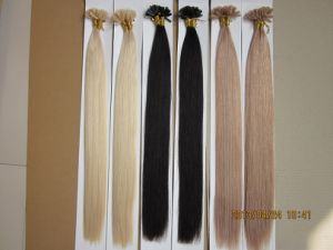 Double Drawn Virgin Remy Keratin Pre-Bonded Nail Hair Extension pictures & photos
