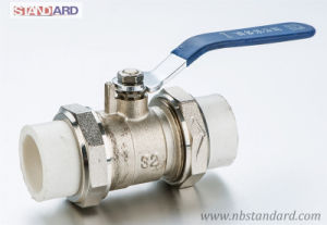 PPR Ball Valve with Brass Body and Stainless Steel Handle pictures & photos
