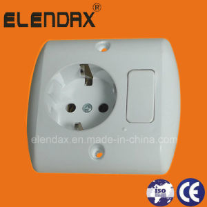 10/16A Euro Style Flush Mounted Wall Socket and Switch (F7810) pictures & photos
