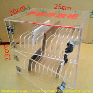 2 Layers Acrylic Mobile Phone Storage Box pictures & photos