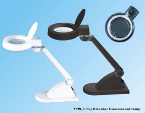 Desktop LED Magnifying Lamp Black or White Color pictures & photos