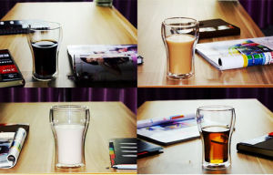 Creative Double Wall Glass Office Cup Glass Cup pictures & photos