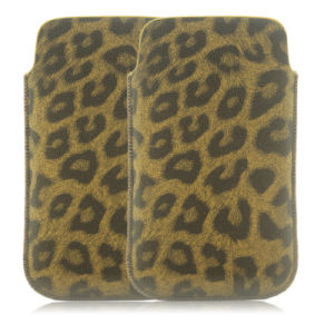 Leopard PU Slim up Universal Mobile Cell Phone Case for iPhone & Samsung