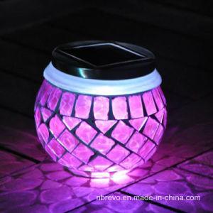 Mosaic Glass Solar Sun Jar for Decoration (RS114) pictures & photos