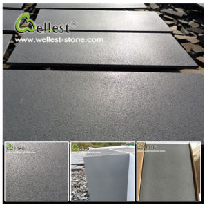 Grey Basaltbluestone Sandblasted Brushed Finished Basalt Tile pictures & photos