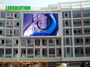 Giant Outdoor Full Color LED Screen Fixed on Building (LS-O-P20) pictures & photos