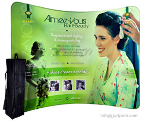Portable Popular Cambered Tension Fabric Pop Up Backdrop Display Banner pictures & photos