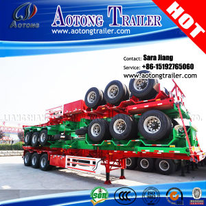 Cheapest 40ft Skeleton 3 Axle Container Trailer for Sale pictures & photos