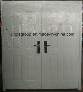 Heatransfer Wood Color Hot Sell Steel Security Door (W-S-26) pictures & photos