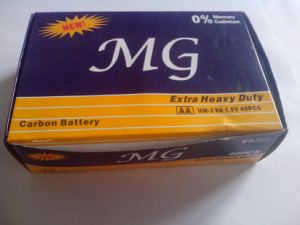 R6p AA 1.5V Extra Heavy Duty Carbon Zinc Dry Cell Battery 2PCS in Card Pack (MG) (R6 AAA UM4) pictures & photos
