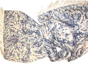 100%Cashmere Double Faced Animal Printed Shawl pictures & photos