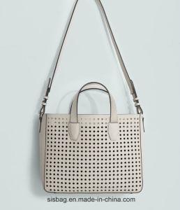 Designer PU Punching Lady Handbag Fashion Stitching Women Handbag pictures & photos
