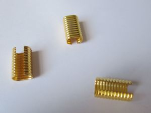 Custom Made Gold Color Small Metal String Clamp/Connector