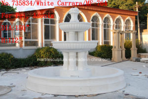 White Carrara Stone Sculpture Marble Fountain (SY-764) pictures & photos