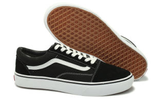 Vulcanized Leather Canvas Shoes