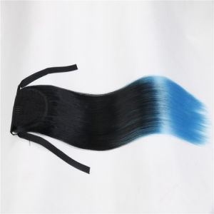 Ombre Color 100% Synthetic Ponytail Hair Extension pictures & photos