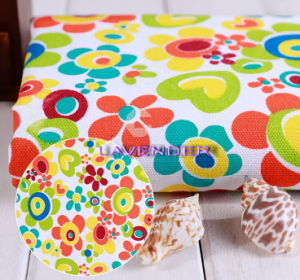 Heart&Flower Patterns 250GSM Textile Canvas Fabric pictures & photos